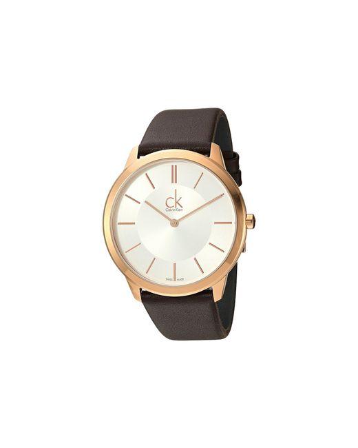 Calvin Klein - Multicolor Minimal Watch - K3m216g6 (silver/brown) Watches for Men - Lyst