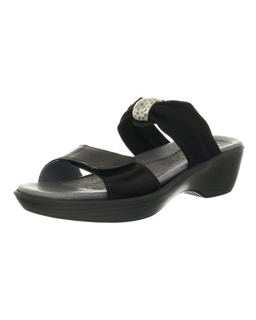 Naot - Pinotage (black Madras Leather/black Stretch) Women's Sandals - Lyst