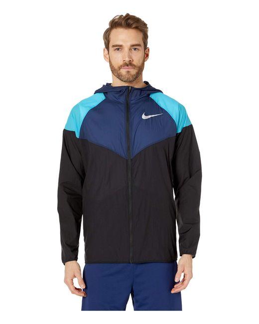 3eaa049f7f Nike - Windrunner (black black black reflective Silver) Men s Coat for ...