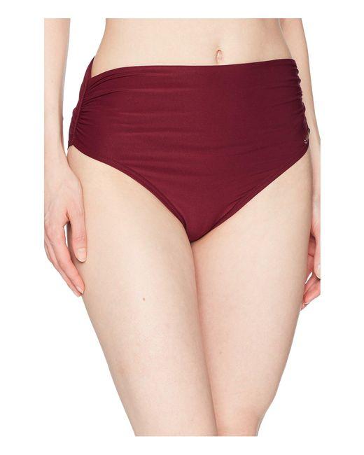 Vince Camuto - Red Shore Shades Convertible High-waist Bikini Bottom (fig) Women's Swimwear - Lyst
