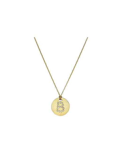 Roberto Coin | Tiny Treasures 18k Yellow Gold Initial B Pendant Necklace | Lyst