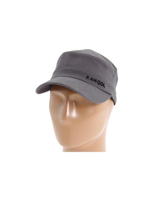 Kangol | Gray Cotton Twill Army Cap | Lyst