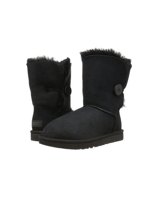 Ugg - Black Women's Bailey Button Ii Sheepskin Boots - Lyst