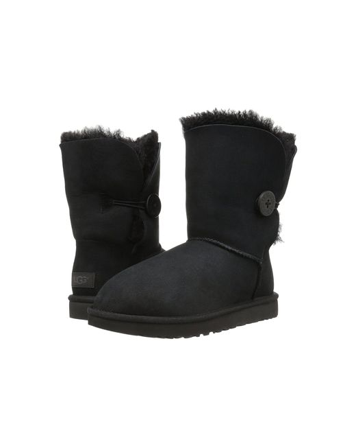 Ugg - Black Classic Bailey Short Button Boots - Lyst
