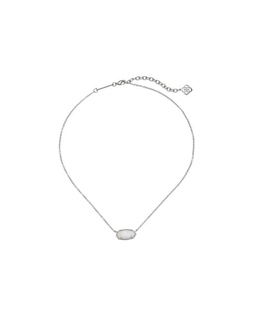 Kendra Scott - Elisa Pendant Necklace (rhodium/white Mother Of Pearl) Necklace - Lyst
