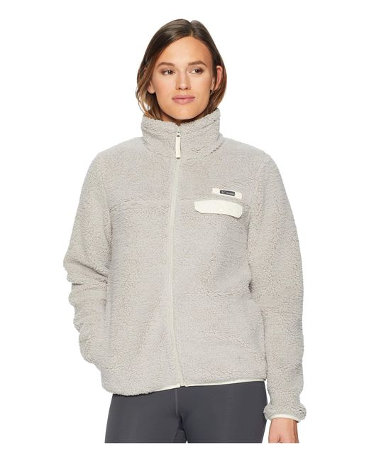 Columbia - Gray Mountain Side Heavyweight Fleece Full (garnet Red Print) Women's Fleece - Lyst