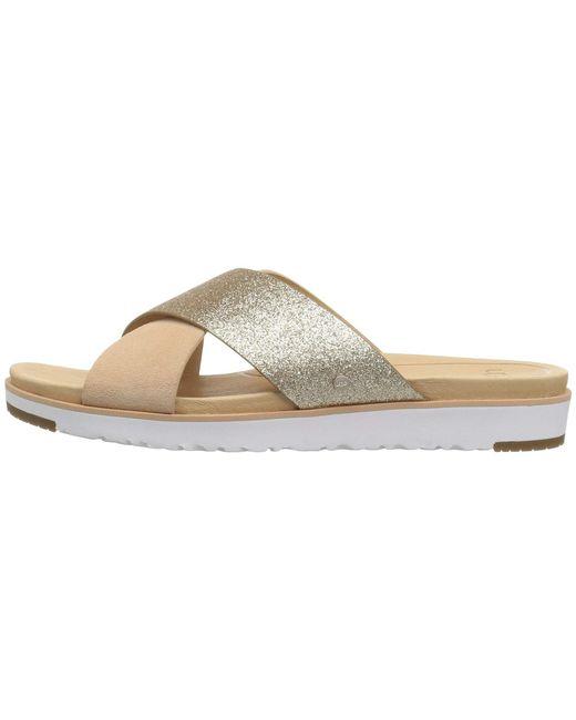 ebcd2dc7557e4 ... Lyst Ugg - Metallic Kari (silver) Women s Dress Sandals ...