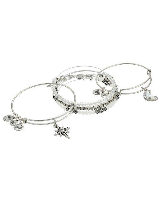 ALEX AND ANI | Metallic Moon & Star Set Of 5 Bracelet | Lyst