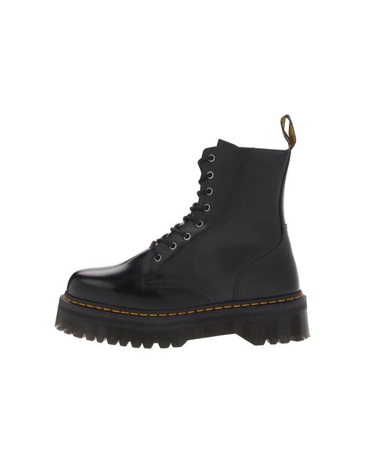 8985049e1a56 Lyst - Dr. Martens Jadon 8-eye Boot (black Polished Smooth) Lace-up ...