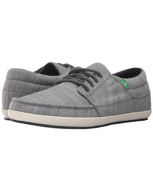 Sanuk - Gray Tko Vintage Slub (charcoal) Men's Lace Up Casual Shoes for Men - Lyst