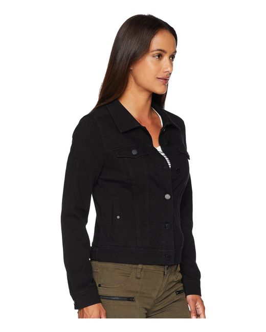 f020ae1cc7c2c ... Liverpool Jeans Company - Petite Classic Denim Jacket In Powerflex Knit  Denim (black Rinse) ...