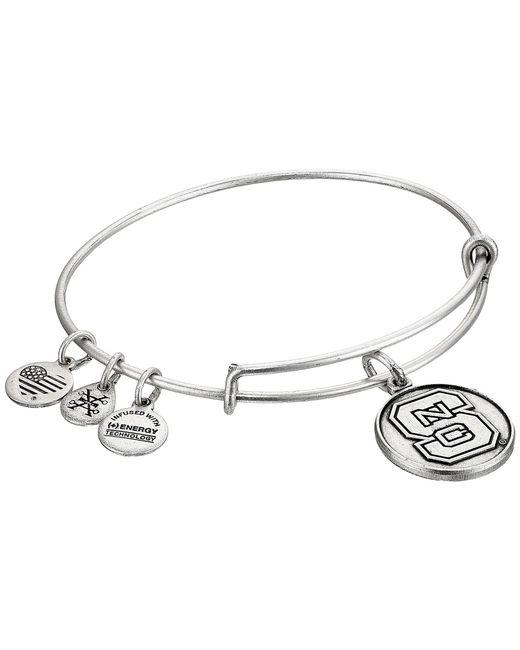 ALEX AND ANI - Metallic North Carolina State University (rafaelian Silver) Bracelet - Lyst