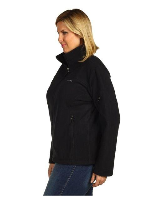 2e4274d1372 ... Columbia - Black Plus Size Fast Trektm Ii Full Zip Fleece Jacket  (charcoal Heather) ...