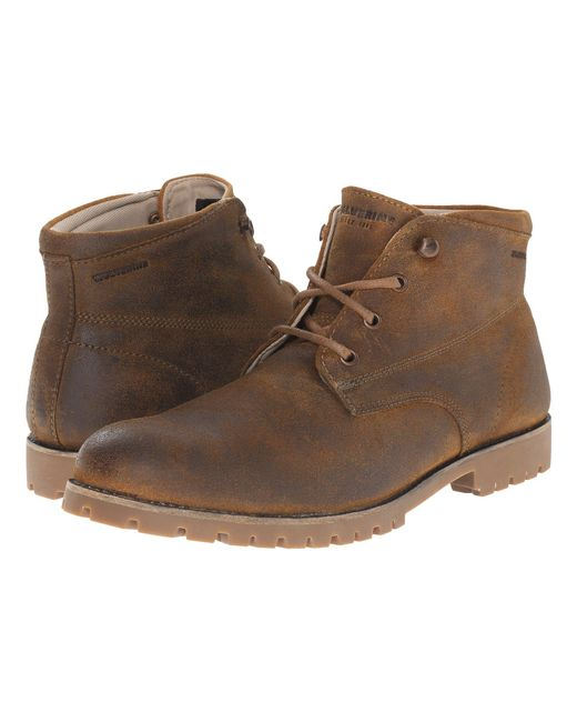 Wolverine - Brown Cort Waterproof Leather Chukka (black Leather) Men's Work Boots for Men - Lyst