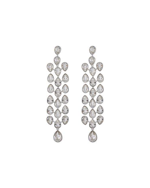 Lyst swarovski lake pear chandelier pierced earrings white swarovski lake pear chandelier pierced earrings white earring lyst aloadofball Images