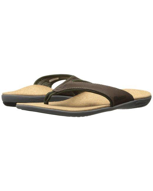 Spenco - Brown Yumi (straw/java/cork) Men's Sandals for Men - Lyst