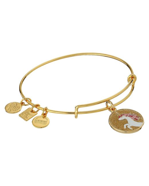 ALEX AND ANI - Metallic Charity By Design Unicorn Charm Bangle (shiny Gold) Charms Bracelet - Lyst