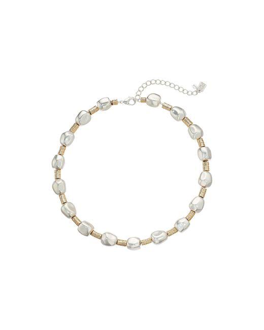Robert Lee Morris Metallic Organic Bead Wire Wrapped Collar Necklace