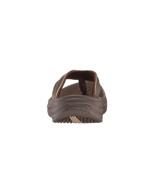 69fd5623b22 Lyst - New Balance Revive Thong (black white) Women s Sandals in Brown