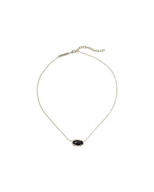 Kendra Scott - Metallic Elisa Pendant Necklace (rhodium/slate) Necklace - Lyst