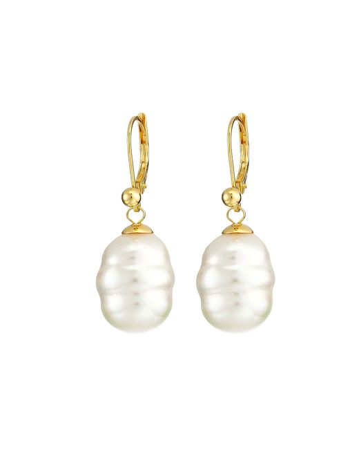 Majorica - White 12mm Baroque Pearl Drop Earrings (gray) Earring - Lyst