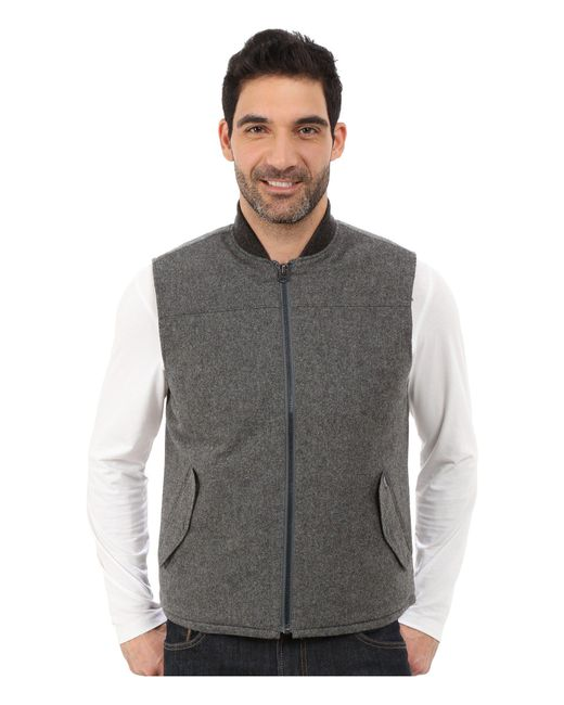 Woolrich - Gray Bear Claw Vest for Men - Lyst