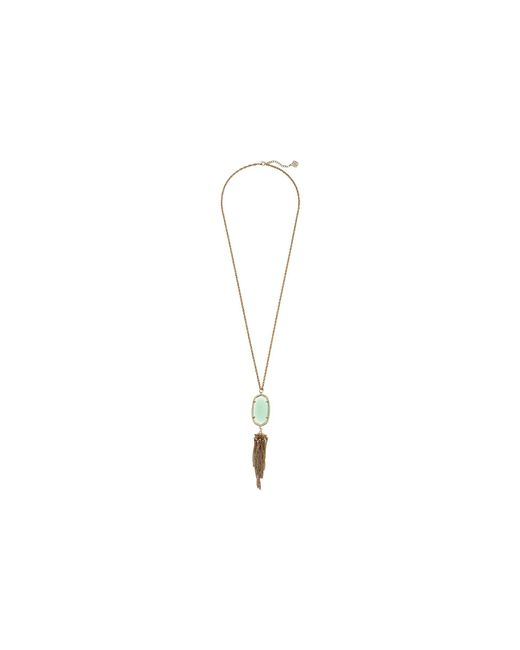 Kendra Scott - Metallic Rayne Necklace (rhodium/black Mother Of Pearl) Necklace - Lyst
