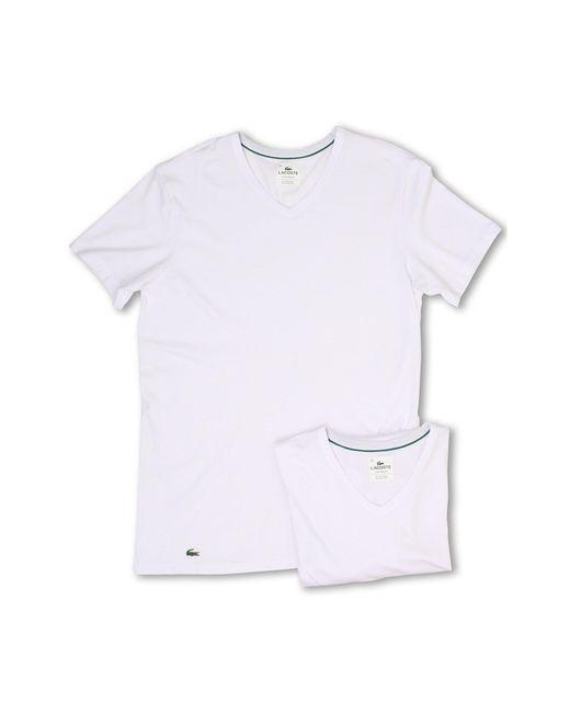 Lacoste - White Colours 2-pack V-neck Tee for Men - Lyst