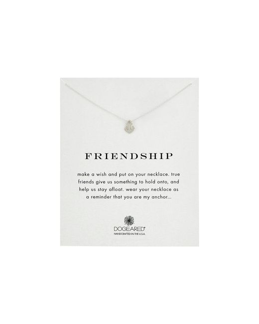 Dogeared - Metallic Friendship Anchor Reminder Necklace (gold) Necklace - Lyst