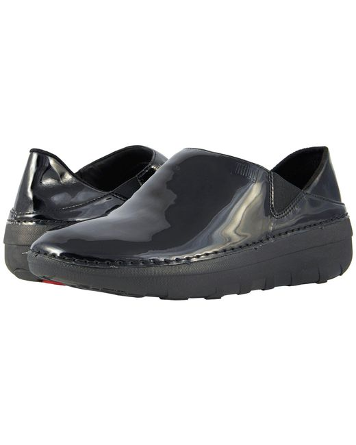 Fitflop - Black Superloafer Patent - Lyst