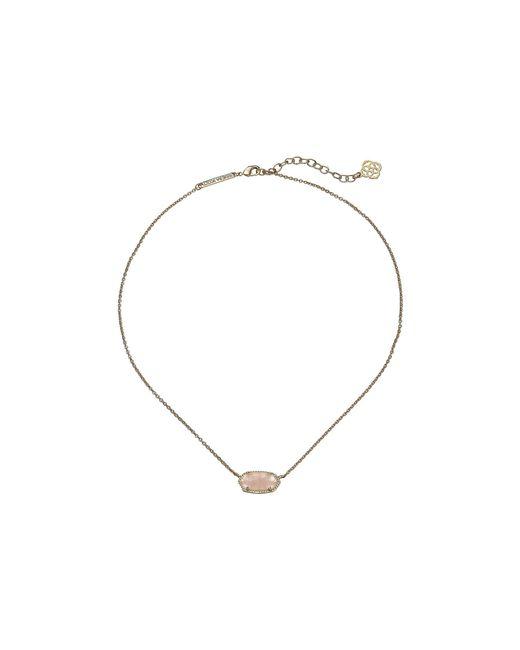 Kendra Scott - Metallic Elisa Pendant Necklace (rhodium/black) Necklace - Lyst
