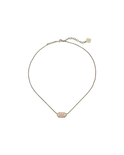 Kendra Scott - Metallic Elisa Pendant Necklace (rhodium/white Mother Of Pearl) Necklace - Lyst