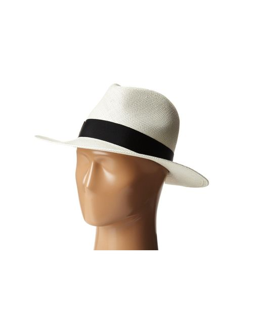 Hat Attack - Black Panama Continental - Lyst