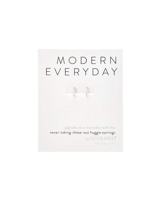 Dogeared Metallic Modern Everyday, Huggie Earrings