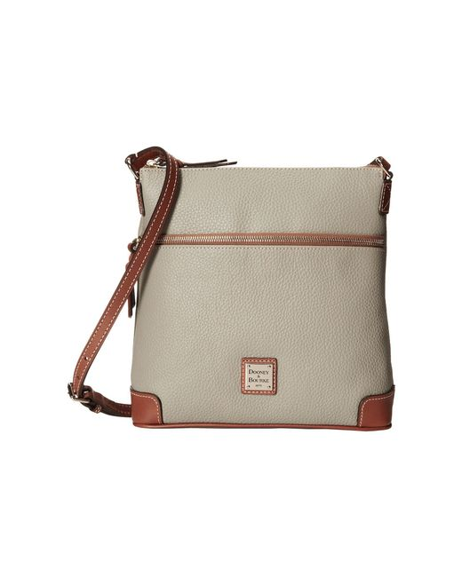 Dooney & Bourke | Gray Pebble Leather Crossbody | Lyst
