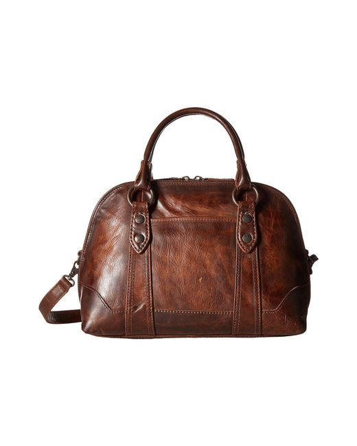 Frye - Brown Melissa Domed Satchel Leather Handbag - Lyst