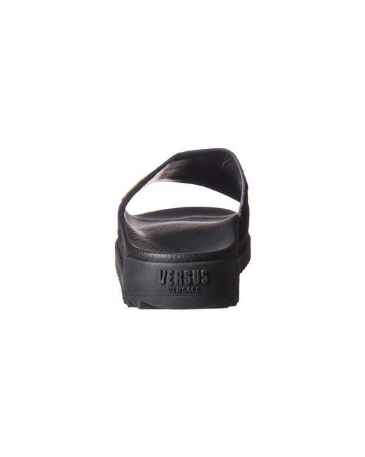 1ec814d5592c1 ... Versus - Footbed Sandal Rubber Sole H.20+sequins Lettering Velluto  (black  ...