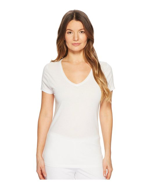Skin - V-neck Easy Tee (white) Women's Pajama - Lyst