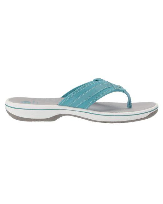 36bf5521f0e93d Lyst - Clarks Breeze Sea (aqua Synthetic) Women s Sandals in Blue