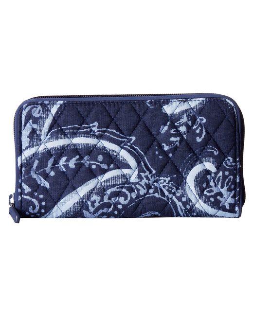Vera Bradley - Blue Rfid Georgia Wallet (indio) Wallet Handbags - Lyst
