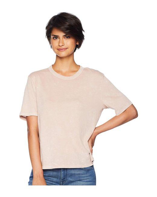 Splendid - Pink Outpost Mineral Wash Tee (black) Women's T Shirt - Lyst