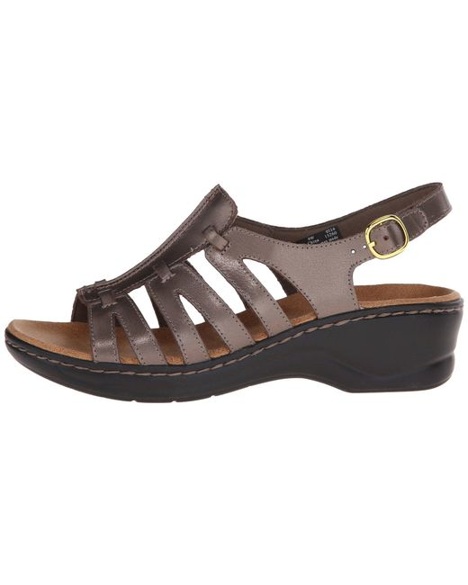 ff1604ae3c2 ... Lyst Clarks - Metallic Lexi Marigold Q (white Leather) Women s Sandals  ...