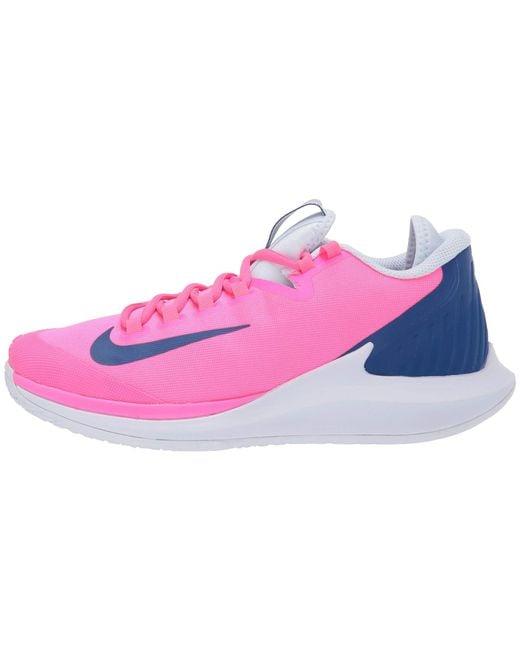 ed096e1161 ... Nike - Court Air Zoom Zero Hc (pink Blast/indigo Force/half Blue ...