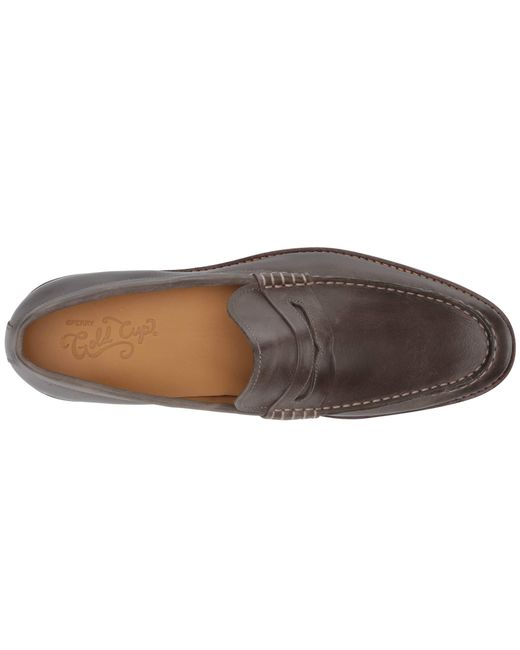 914e018e96b ... Sperry Top-Sider - Gray Gold Exeter Penny Loafer (amaretto Leather)  Men s Shoes ...