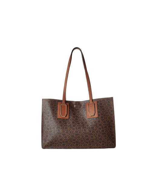 CALVIN KLEIN 205W39NYC - Brown Unlined Monogram East/west Boxed Tote - Lyst