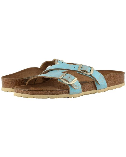 fad7bdcb0ba Birkenstock - Metallic Yao (black Birko-flor) Women s Sandals - Lyst ...