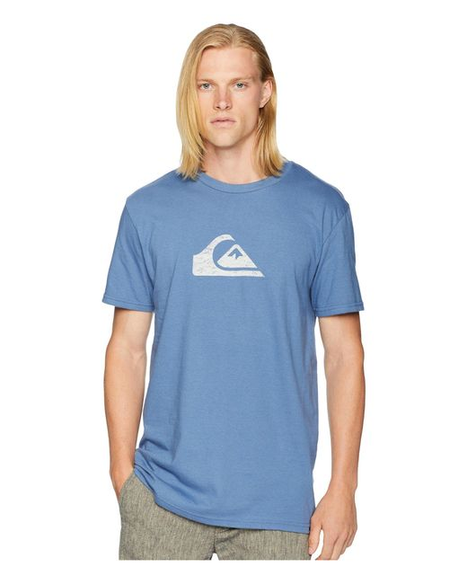 Quiksilver - Blue Comp Logo Tee (black/white) Men's T Shirt for Men - Lyst