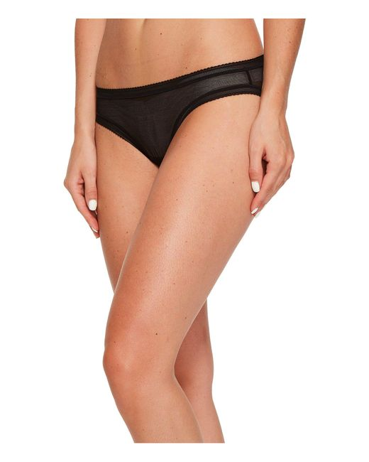 On Gossamer - Black Cotton Mesh Bikini G1130 (blush) Women's Underwear - Lyst