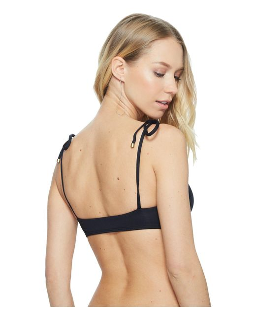 48a88ec4a4a Lyst - Vitamin A Zuma Bralette (eco Black) Women s Swimwear in Black ...