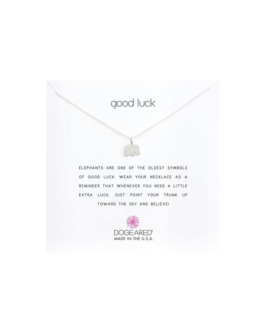 Dogeared - Metallic Good Luck Elephant Reminder Necklace (gold Dipped) Necklace - Lyst